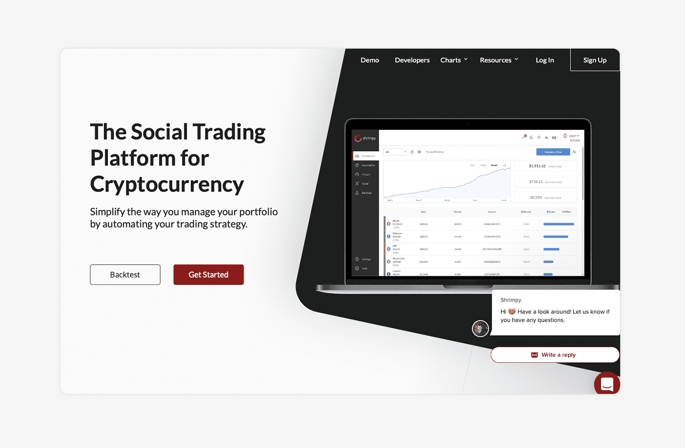 Shrimpy trading bot by safetrading