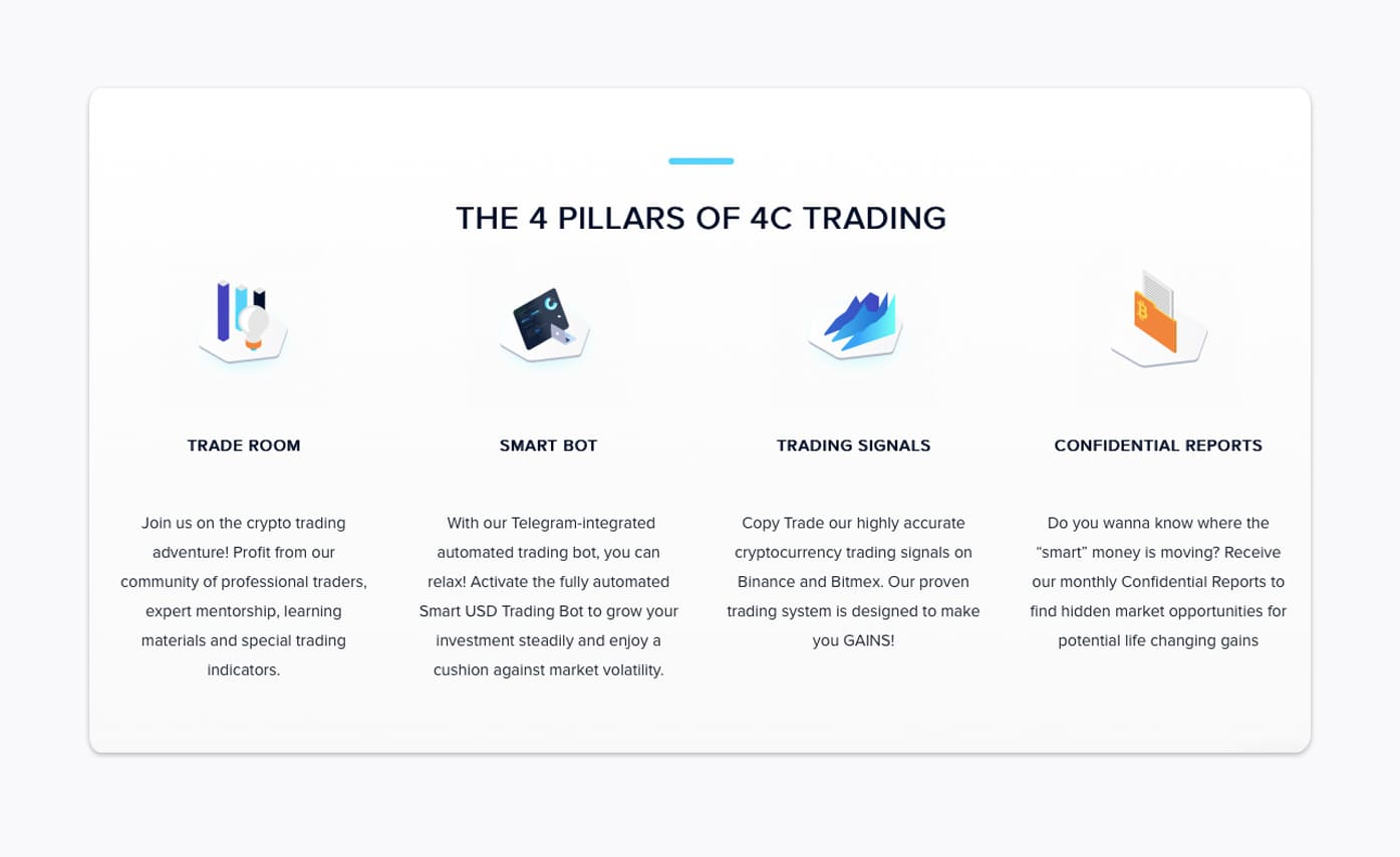 features of 4c trading