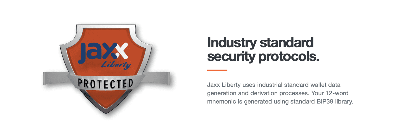 Jaxx wallet security